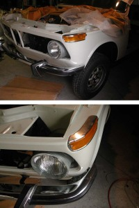 BMW2002ライト、ウインカー装着