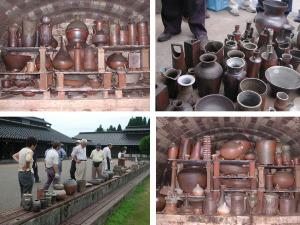 穴窯の窯出し日