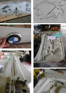 BMW2002トランクフード組み立て